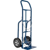 "Single Cylinder Hand Truck with Curved Handle, 10"" Semi-Pneumatic Wheels, 800 Lb. Cap, 47""H"