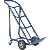 "Tilt Back Cylinder Hand Truck with Curved Handle, 800 Lb. Capacity, 47""H"