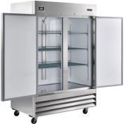"Reach-in Refrigerator, 2 Door, 54'Wx32.2""Dx82.5""H, 47 Cu. Ft."