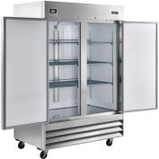 "Reach-in  Freezer, 2 Doors, 54""Wx32.2""Dx82.5""H, 47 Cu. Ft."