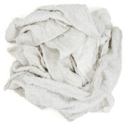 Reclaimed Terry Towel/Robe Rags, White, 50 Lbs.