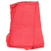 New 100% Cotton Pre-Washed Shop Towels, Red, 25 Lbs.