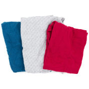 Reclaimed Sweatshirt/Fleece Rags, Assorted Colors, 25 Lbs.