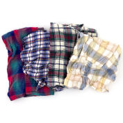 Reclaimed Flannel Rags, Assorted Colors, 25 Lbs.