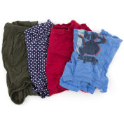 Reclaimed T-Shirt Knit Rags, Assorted Colors, 25 Lbs.