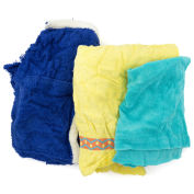 Reclaimed Terry Towel/Robe Rags, Assorted Colors, 25 Lbs.