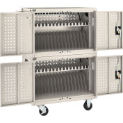 Chromebooks Laptops and iPad Tablets Charging Cart, 32-Device Capacity, Putty, Unassembled