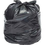 7-10 Gallon Medium Duty Black Trash Bags, 0.6 Mil, 500 Bags/Case