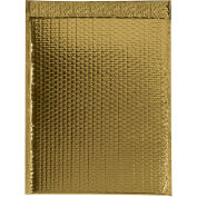 "Glamour Bubble Mailers, Self-Seal, 16"" x 17-1/2"",  Gold, 48 Pack, GBM1617GD"