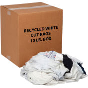 Global Industrial™ Recycled White Cut Rags, 10 Lb. Box