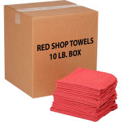 10 Lb.Box 100% Cotton Shop Towels, Red