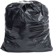 Draw-Tuff DTC4045K Industrial Drawstring Trash Bags, 55 Gal, Black, 1.4 Mil, 100/Case