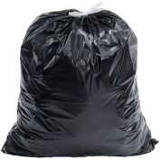 Draw-Tuff DTC3742K Industrial Drawstring Trash Bags, 40-45 Gal, Black, 1.4 Mil, 150/Case