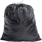 Draw-Tuff DT32GALK Industrial Drawstring Trash Bags, 32 Gal, Black, 0.8 Mil, 150/Case