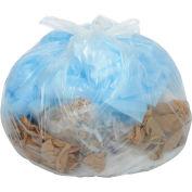 33 Gallon Heavy Duty Clear Trash Bags, 1.4 Mil, 100 Bags/Case