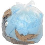 40-45 Gallon Light Duty Natural Trash Bags, 0.39 Mil, 250 Bags/Case