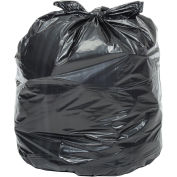 45-55 Gallon Light Duty Black Trash Bags, 0.47 Mil, 200 Bags/Case