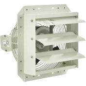 """Corrosion Resistant Exhaust Fan, 10"""" Diameter, Shutter Mount, 1/20 HP, 650 CFM, 115V"""