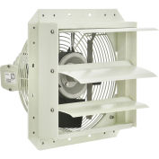 """Corrosion Resistant Exhaust Fan with Shutter, 12"""" Diameter, Direct Drive, 1/8 HP, 900 CFM,115V"""