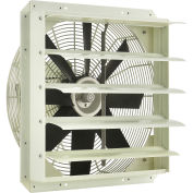 """Corrosion Resistant Exhaust Fan with Shutter, 20"""" Diameter, Direct Drive, 1/3 HP, 2920 CFM, 115V"""