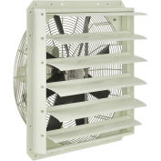 """Corrosion Resistant Exhaust Fan with Shutter, 24"""" Diameter, Direct Drive, 1/2 HP, 3920 CFM, 115V"""