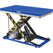 "2200 Lb. Capacity Power Scissor Lift Table with Hand Control, 48""L x 28""W Platform"