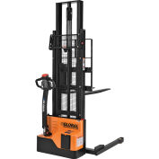 """Fully Powered Straddle Stacker Lift Truck 2200 Lb. Cap. 116"""" Lift"""