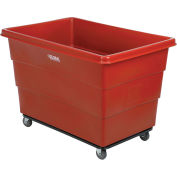 20 Bushel Plastic Bulk Box Truck, Steel Chassis Base, Red