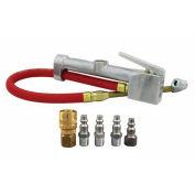 "Milton Inflator Gauge and M-Style Coupler & Plug Kit 1/4"" NPT, (6-Piece)"