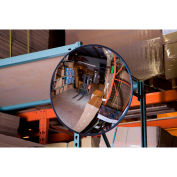 Global Industrial™ 12'' Glass Convex Indoor Safety Mirror, Plastic Back