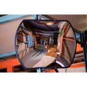 Global Industrial™ 12''x 18'' Glass Rectangle Convex Safety Mirror, Hardboard Back