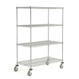 Wire Shelf Truck, 36x24x69, 1200 Pound Capacity