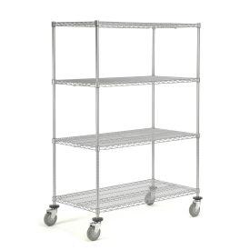 Wire Shelf Truck, 48 x 24 x 69, 1200 Pound Capacity