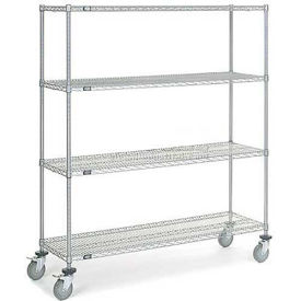 Wire Shelf Truck, 60 x 24 x 69, 1200 Pound Capacity