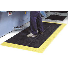 """NoTrax Drainage Mat Grease And Chemical Resistant, 42"""" x 120"""" x 7/8"""", Black"""