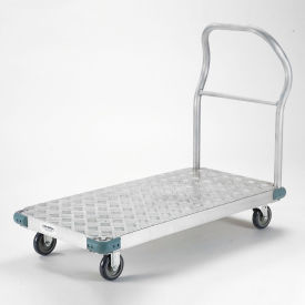 "Platform Truck - Aluminum Diamond Deck, 60 x 30, 1000 Lb. Capacity, 5"" Polyurethane Casters"