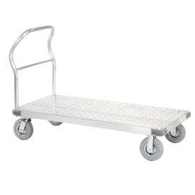 "Platform Truck - Aluminum Diamond Deck, 48 x 30, 1200 Lb. Capacity, 8"" Pneumatic Casters"