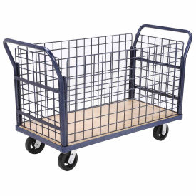 Euro Style Truck - 4 Wire Sides & Wood Deck, 48 x 24, 2000 Lb. Capacity