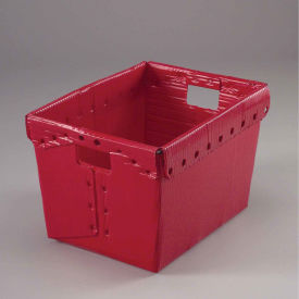 Postal Mail Tote Without Lid, Corrugated Plastic, Red, 18-1/2x13-1/4x12 - Pkg Qty 10