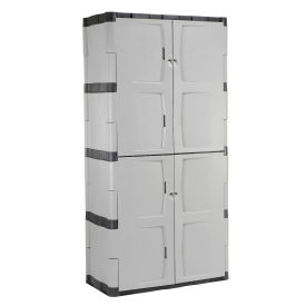 "RUBBERMAID Plastic Storage Cabinet - 36x18x72"""