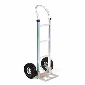Magliner Aluminum Hand Truck with Curved Handle, Pneumatic Wheels
