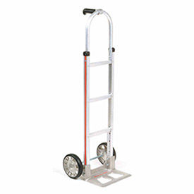 Magliner Aluminum Hand Truck with Pin Handle, Mold-On Rubber Wheels