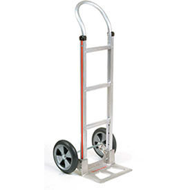 Magliner Aluminum Hand Truck with Curved Handle, Balloon Wheels
