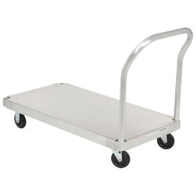 Platform Truck with Smooth Deck, Aluminum, 48 x 24, 1000 Lb. Cap.
