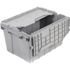 """Akro-Mils Attached Lid Container, 21-1/2""""L x 15""""W x 9""""H - Pkg Qty 6"""