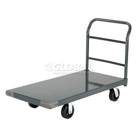 "Platform Truck w/Steel Deck, 6"" Rubber Casters, 72 x 36, 2000 Lb. Capacity"