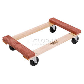 Hardwood Dolly - Rubber Bumpered Ends Deck, 30 x 18, 1200 Lb. Capacity