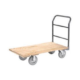 "Platform Truck w/Hardwood Deck, 48 x 24, 1200 Lb. Capacity, 8"" Pneumatic Casters"