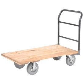 "Platform Truck w/Hardwood Deck, 72 x 36, 1200 Lb. Capacity, 8"" Pneumatic Casters"