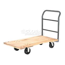 "Platform Truck w/Hardwood Deck, 72 x 36, 2000 Lb. Capacity, 6"" Rubber Casters"
